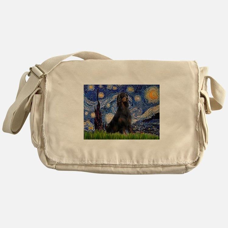 Starry Night & Gordon Messenger Bag