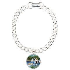 Sailboats / Gr Dane (h) Charm Bracelet, One Charm