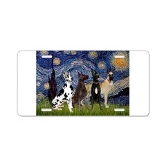 Starry / 4 Great Danes Aluminum License Plate