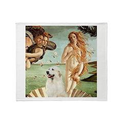 Venus / Great Pyrenees Throw Blanket