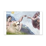 Creation / Gr Pyrenees 20x12 Wall Decal