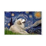 Starry / Gr Pyrenees 20x12 Wall Decal