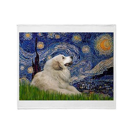 Starry / Gr Pyrenees Throw Blanket