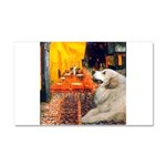 Cafe / Great Pyrenees Car Magnet 20 x 12