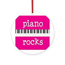 Music Gift Piano Rocks Ornament