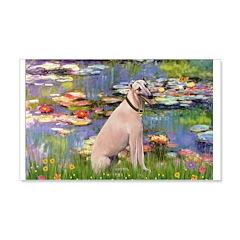 Lilies2/Greyhound (f) 20x12 Wall Decal