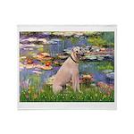 Lilies2/Greyhound (f) Throw Blanket