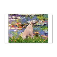 Lilies2/Greyhound (f) Car Magnet 20 x 12
