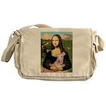 Mona Lisa / Greyhound #1 Messenger Bag