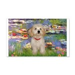 Lilies / Havanese 20x12 Wall Decal