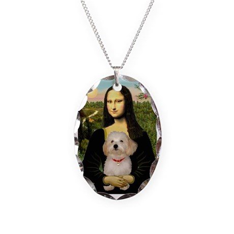 Mona / Havanese Necklace Oval Charm