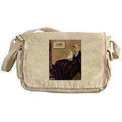 Whistler's / Havanese Messenger Bag