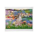Lilies / Ital Greyhound Throw Blanket