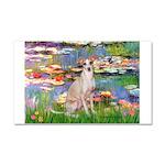 Lilies / Ital Greyhound Car Magnet 20 x 12
