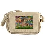Lilies / Ital Greyhound Messenger Bag