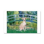 Bridge / Ital Greyhound Car Magnet 20 x 12