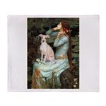 Ophelia / Italian Greyhound Throw Blanket