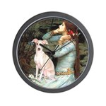 Ophelia / Italian Greyhound Wall Clock
