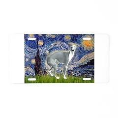 Starry Night/Italian Greyhoun Aluminum License Pla