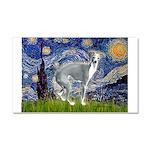 Starry Night/Italian Greyhoun Car Magnet 20 x 12