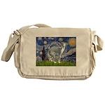 Starry Night/Italian Greyhoun Messenger Bag