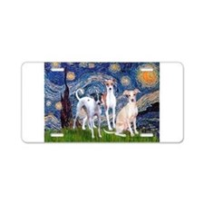 Starry Night / Ital Greyhound Aluminum License Pla