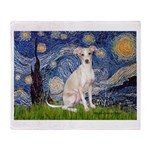 Starry Night / Ital Greyhound Throw Blanket