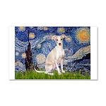 Starry Night / Ital Greyhound Car Magnet 20 x 12
