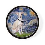 Starry Night / Ital Greyhound Wall Clock