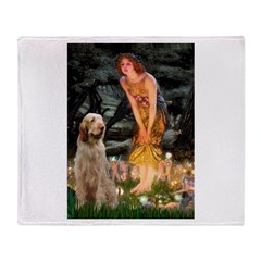 Fairies/ Italian Spinone Throw Blanket