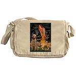 Fairies/ Italian Spinone Messenger Bag