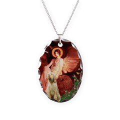 Seated Angel /Italian Spinone Necklace