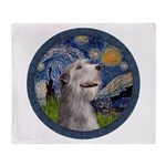 Starry Irish Wolfhound Throw Blanket