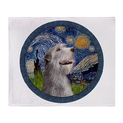 Starry Irish Wolfhound Throw Blanket
