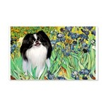 Irises/Japanese Chin 20x12 Wall Decal
