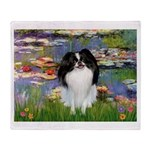 Lilies (#2)/Japanese Chin Throw Blanket