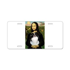 Mona Lisa/Japanese Chin Aluminum License Plate