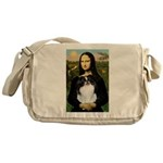 Mona Lisa/Japanese Chin Messenger Bag