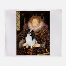 Queen/Japanese Chin Throw Blanket