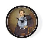 Lincoln / Keeshond (F) Wall Clock