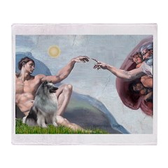 Creation/ Keeshond Throw Blanket