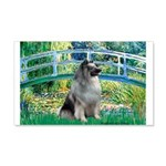 Bridge / Keeshond 20x12 Wall Decal