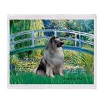 Bridge / Keeshond Throw Blanket