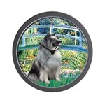 Bridge / Keeshond Wall Clock