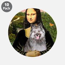 "Mona's Keeshond (E) 3.5"" Button (10 pack)"