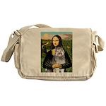 Mona's Keeshond (E) Messenger Bag