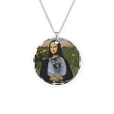 Mona Lisa / Keeshond (F) Necklace