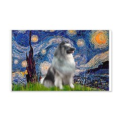 Starry / Keeshond Wall Decal
