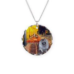 Cafe / Keeshond (F) Necklace