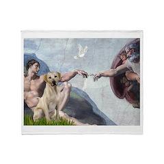 Creation/Labrador (Y) Throw Blanket